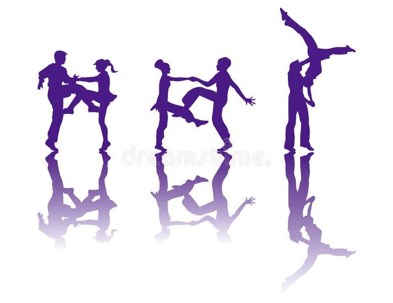 sylwetka tancerzem. ilustracja wektor