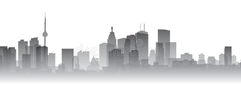 sylwetka Toronto royalty ilustracja
