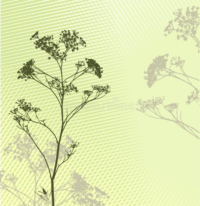 sylwetka trawy tło ilustracja wektor