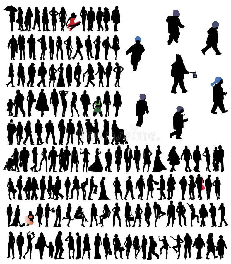 Download Sylwetki ilustracja wektor. Obraz złożonej z piękno, atrakcyjny - 8226163