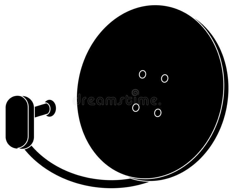 Sylwetki antena satelitarna ilustracja wektor