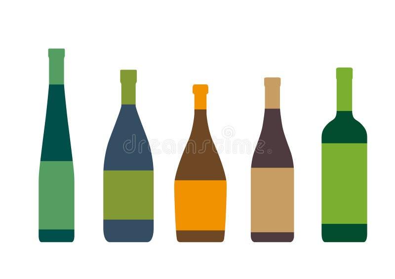 Sylwetki butelki royalty ilustracja