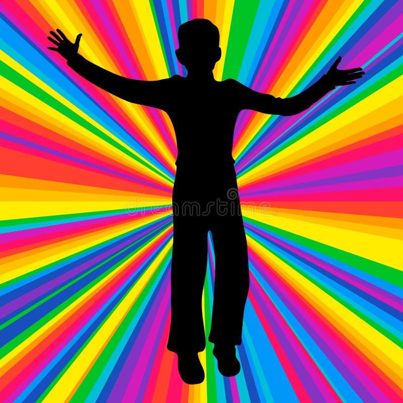 Sylwetki dancingowa istota ludzka, muzyki bitwy przyjęcie, dyskoteka promień ilustracji