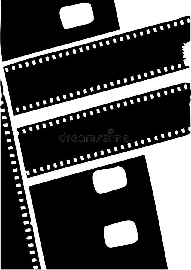 Sylwetki Ekranowej rolki czarny wektor ilustracja wektor