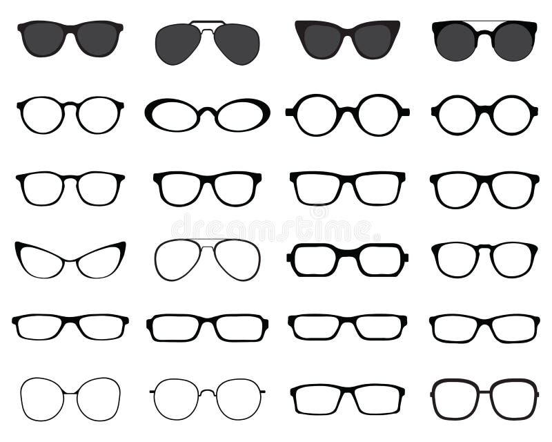Sylwetki eyeglasses obraz royalty free