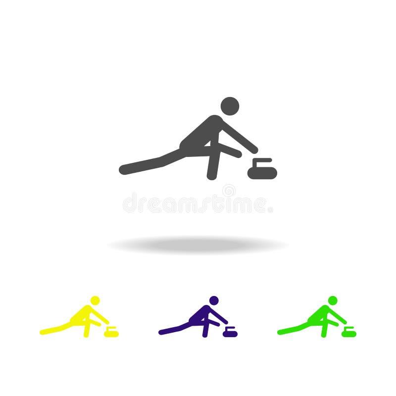 Sylwetki fryzowania atlety odosobniona stubarwna ikona Zima sporta gier dyscyplina Symbol, znaki może używać dla sieci, logo, mot ilustracji