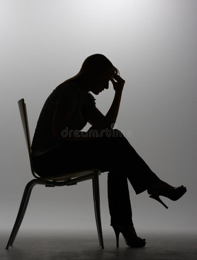 sylwetki kobieta zdjęcie stock