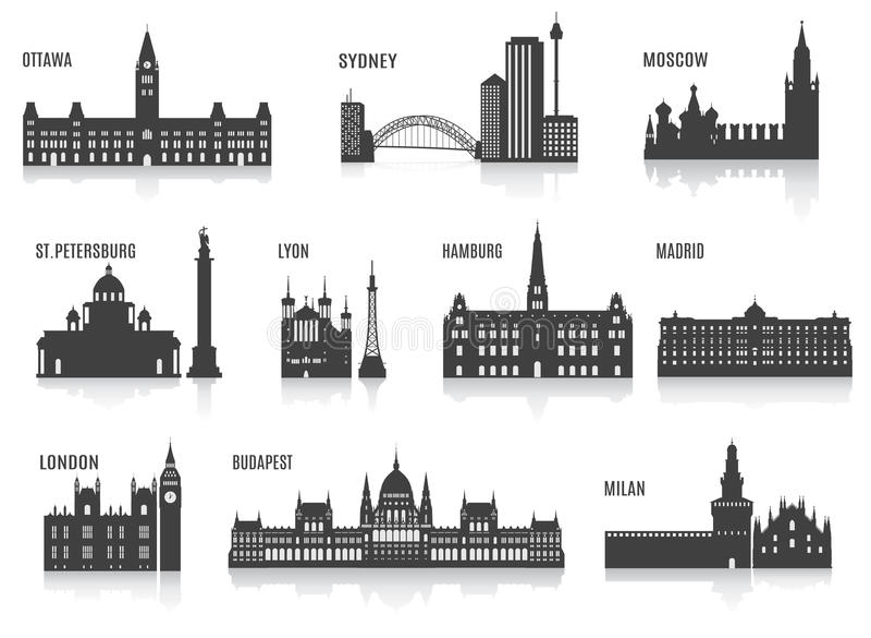 Sylwetki miasta ilustracji