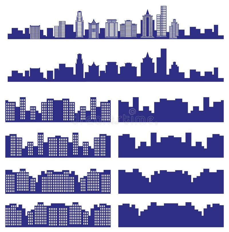 Sylwetki miasto ilustracja wektor