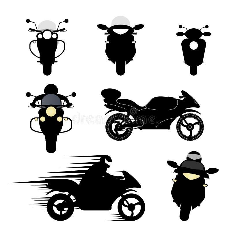 Sylwetki motocykle royalty ilustracja