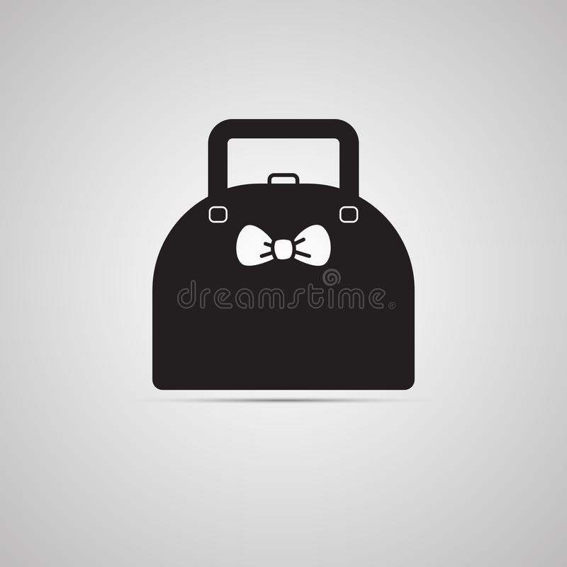 Sylwetki płaska ikona, prosty wektorowy projekt z cieniem Damy torebka royalty ilustracja