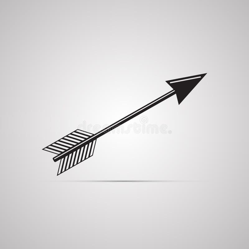 Sylwetki płaska ikona, prosty wektorowy projekt z cieniem Strzałkowaty arbalest i ilustracji