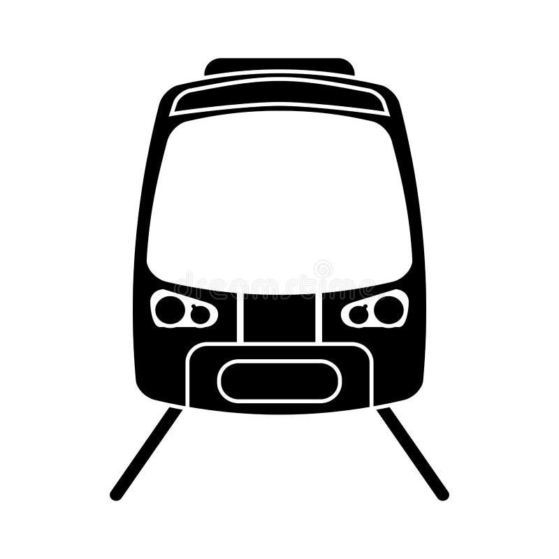 Sylwetki prędkości wysokiego pociągu pasażerska sztachetowa droga royalty ilustracja