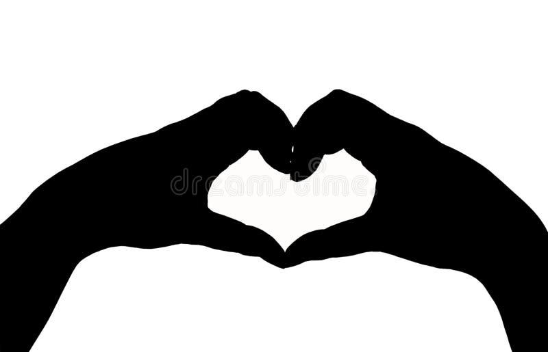 Sylwetki ręka w kierowym kształcie zdjęcia royalty free