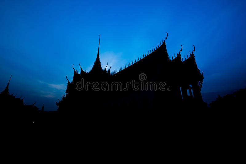 Sylwetki Sanphet Prasat pałac obrazy royalty free
