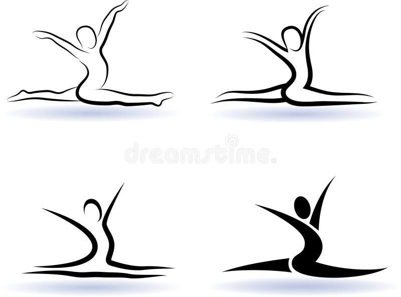 sylwetki transformacja ilustracja wektor