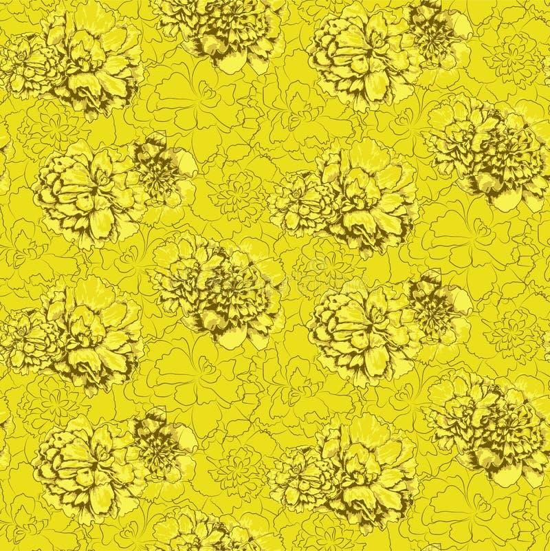 Sylwetki wiele różni anglik zieleni kwiaty ilustracji