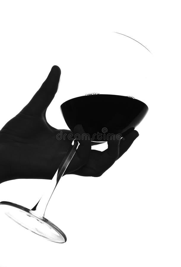 sylwetki wino obraz stock