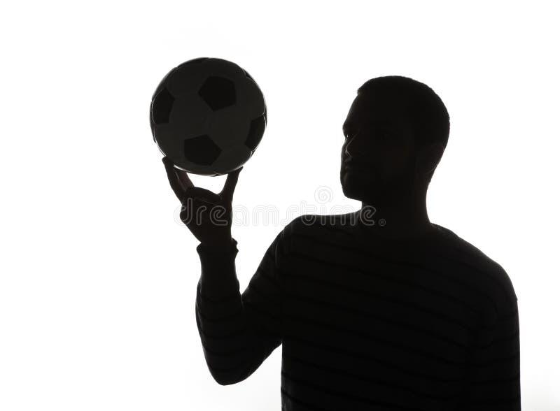 sylwetkowy balowy mężczyzna zdjęcia stock