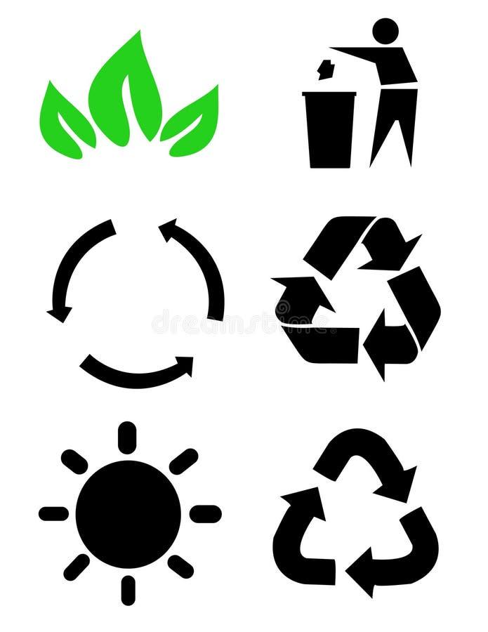 Sym ambientale di conservazione illustrazione vettoriale