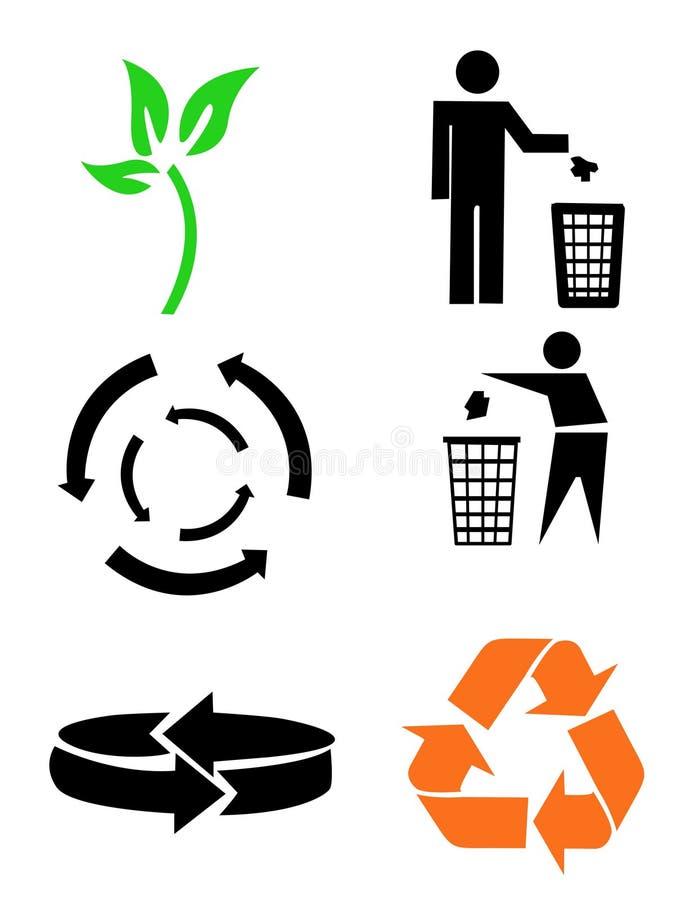 Sym environnemental d'économie illustration de vecteur