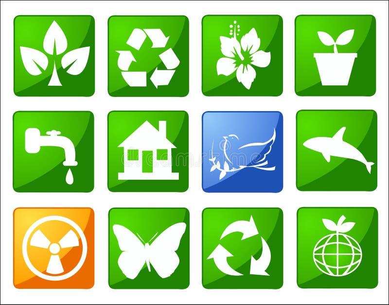 Sym environnemental d'économie illustration stock