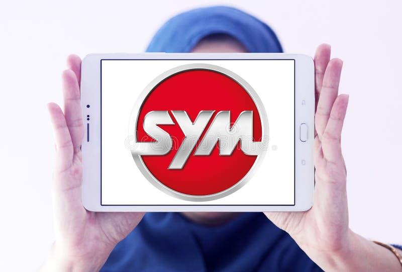 SYM fährt Firmenlogo lizenzfreies stockbild