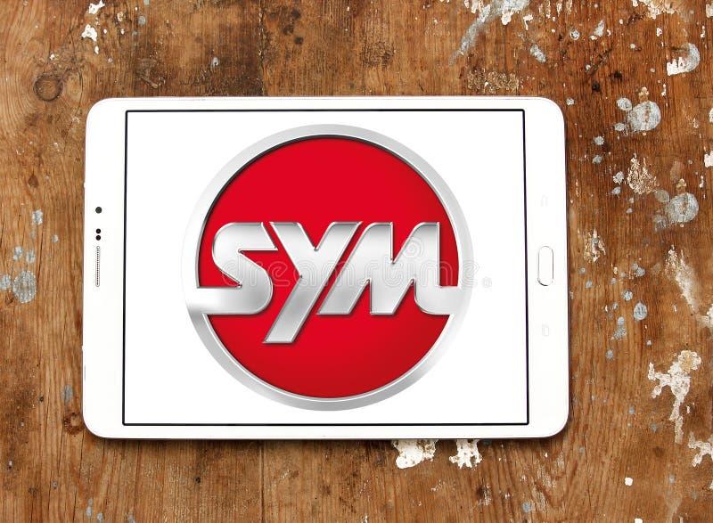 SYM fährt Firmenlogo lizenzfreie stockbilder