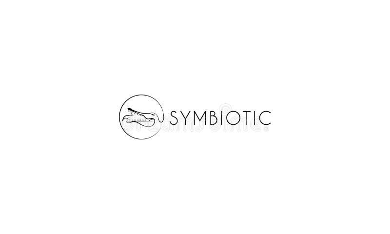 Symbiotisk vektorlogo royaltyfri illustrationer