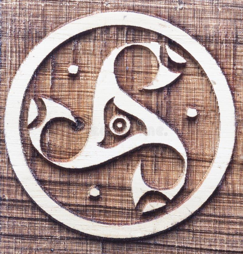 Symbo celtico del triskele immagini stock