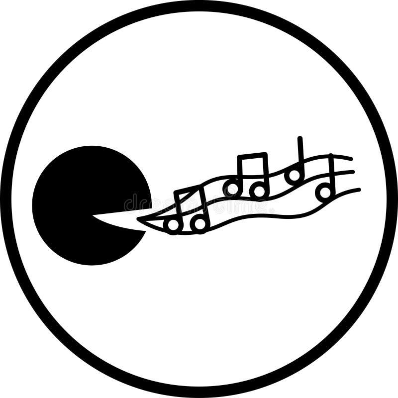 symbol śpiewania royalty ilustracja