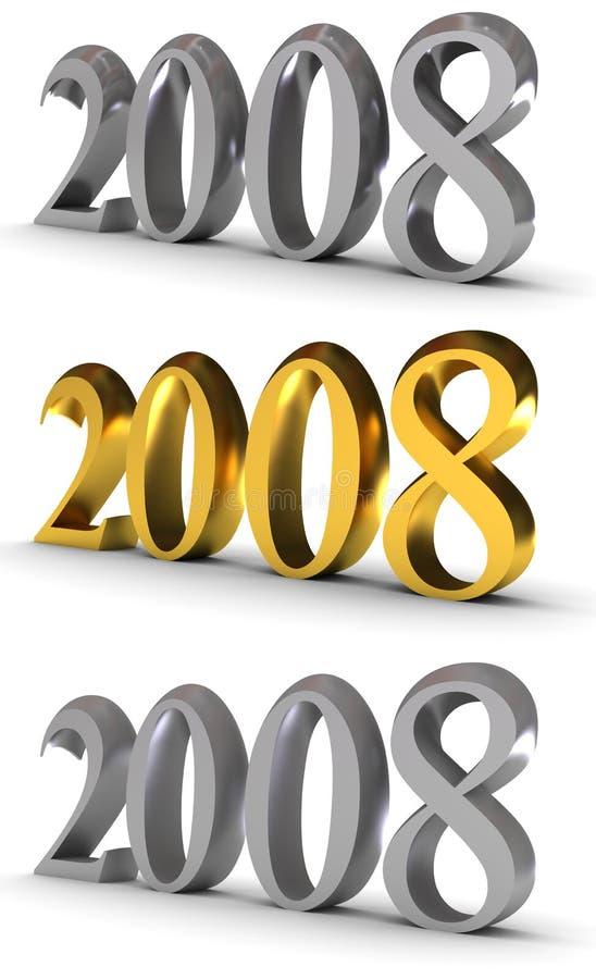Symbol 2008 des neuen Jahres stock abbildung