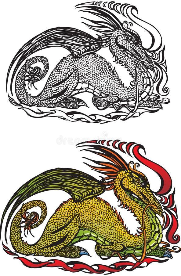 Symbol 2012 Dragon Stock Image