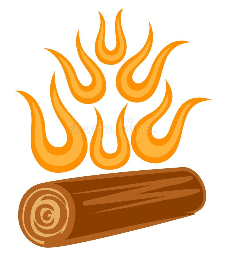 Symbol of abstract fire. A symbol of abstract fire with a log stock illustration