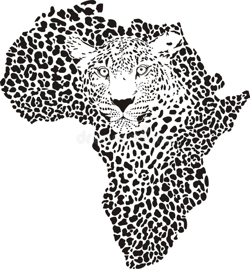Free Symbol Africa In Leopard Camouflage Royalty Free Stock Photos - 30510388