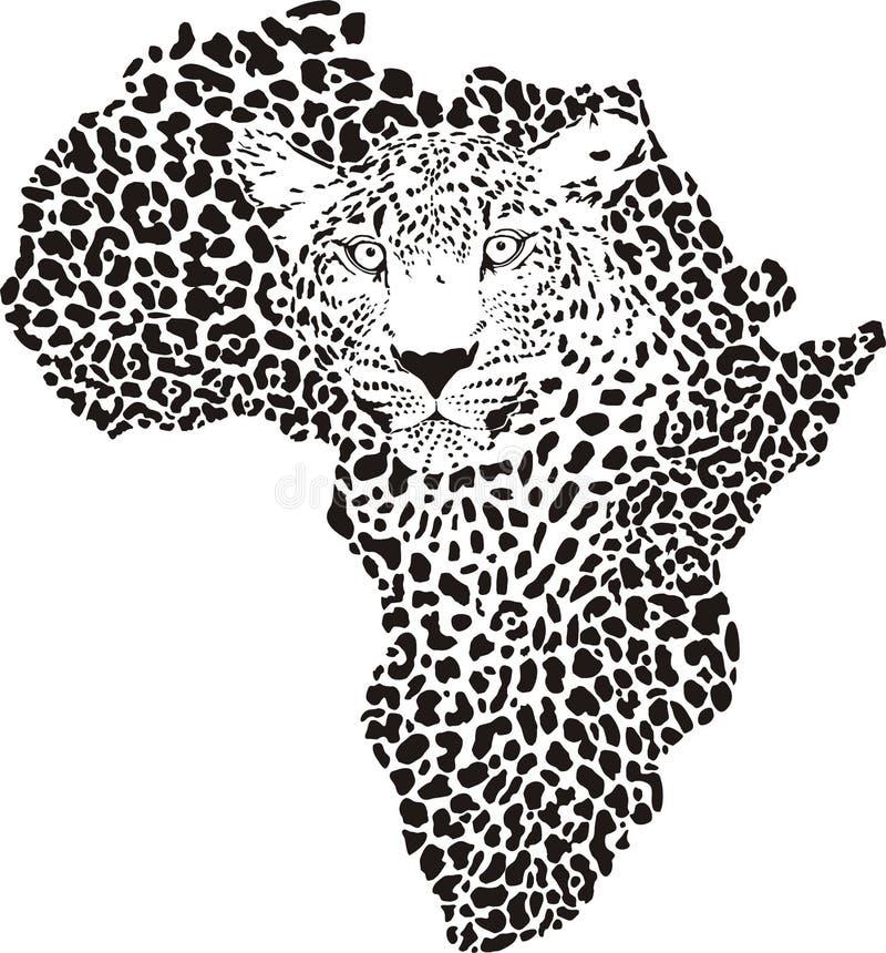 Symbol Afrika in der Leopardtarnung stock abbildung