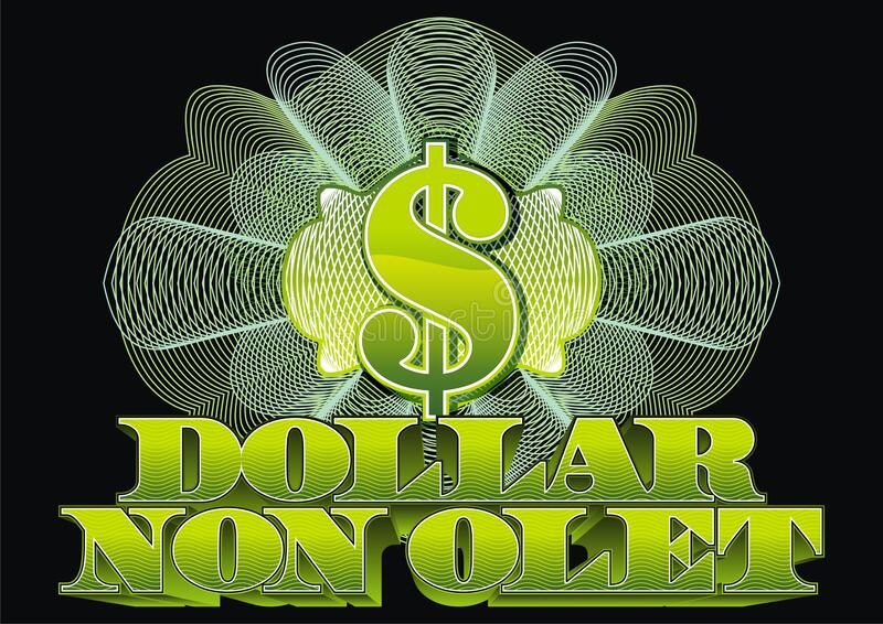 Dollar symbol and latin inscription. The dollar doesn`t smell. royalty free stock image