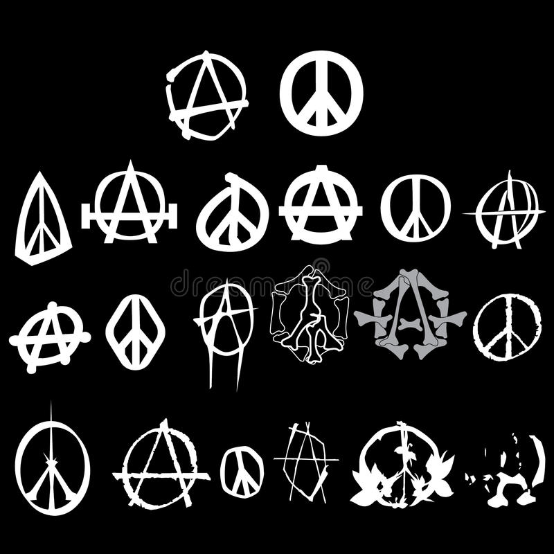 Download Symbol Anarchy Peace Logo Pack Isolated Vector Royalty Free Stock Image - Image: 18908896