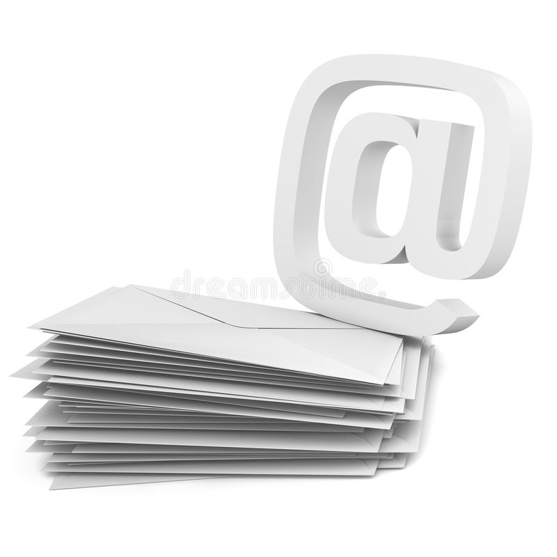 Free @ Symbol And Envelope Stock Images - 15012024