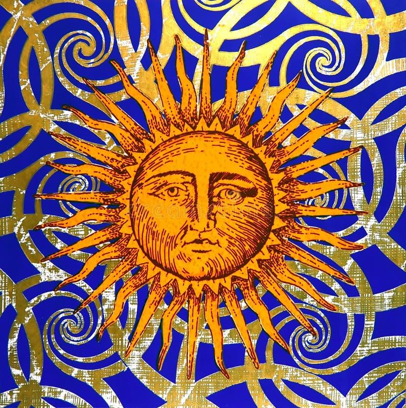 symbol artystyczny słońce royalty ilustracja
