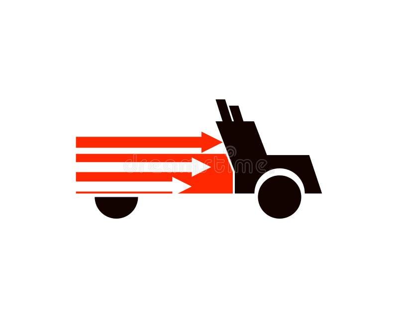 Express truck logo royalty free illustration