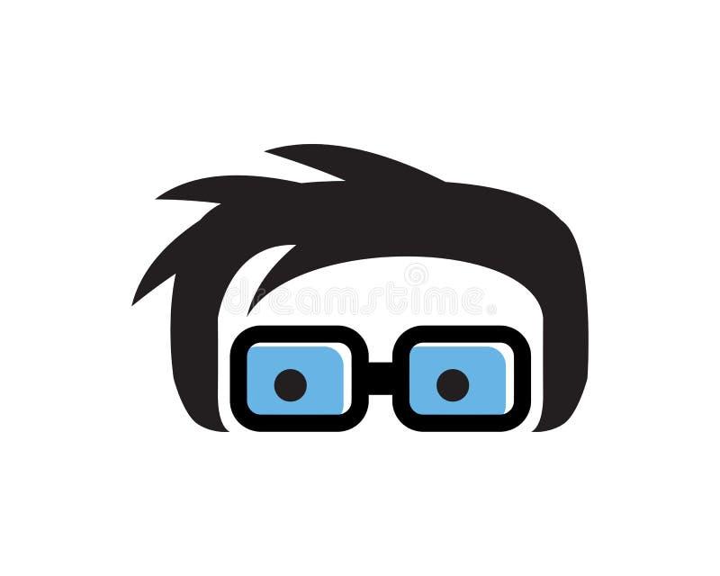 bright geek logo vector illustration