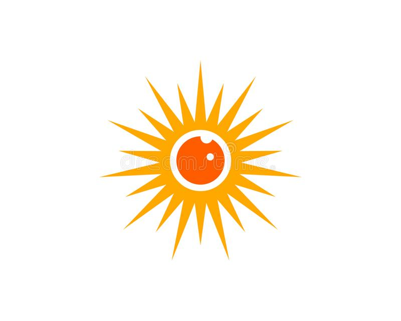 Eye sun logo. Is a symbol associated with the sun and eyes royalty free illustration