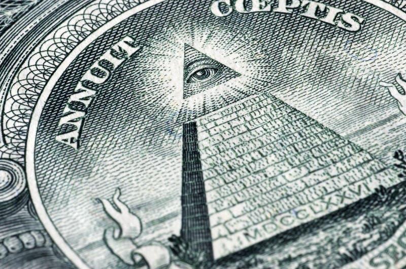 Symbol auf einem Dollar stockfotografie