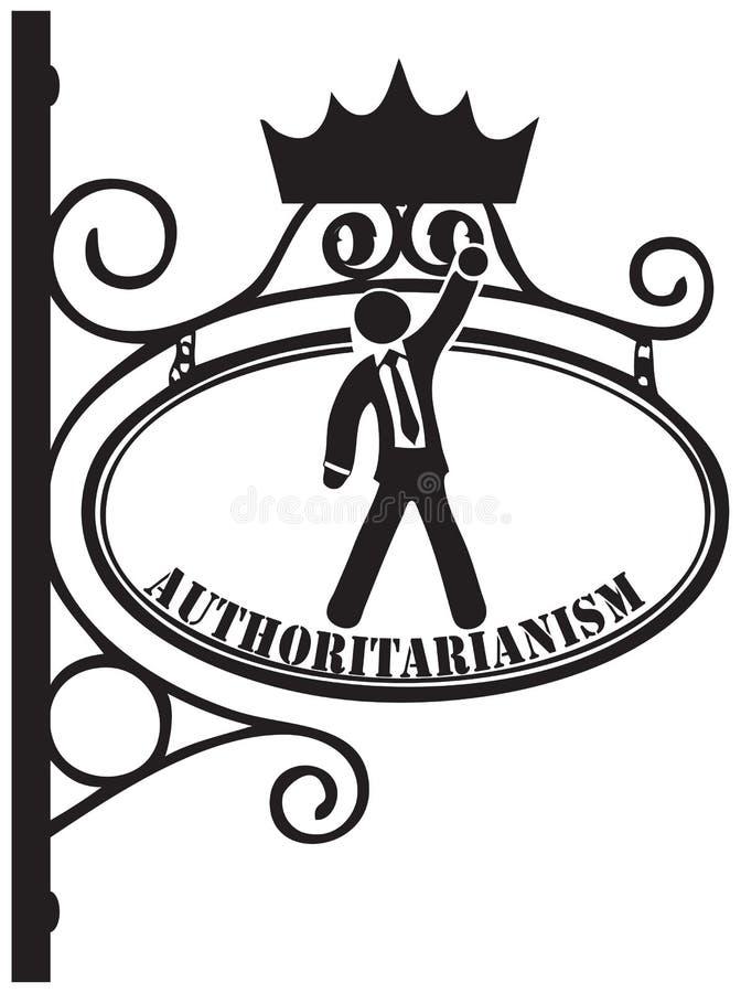 Symbol autorytaryzm ilustracja wektor