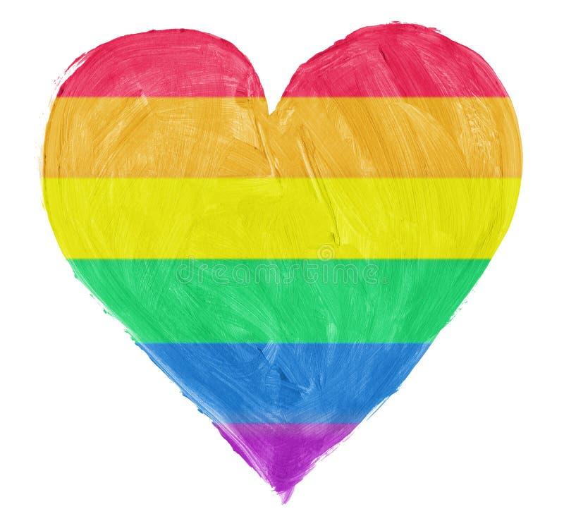 Symbol av bögen, lesbisk förälskelse royaltyfri illustrationer