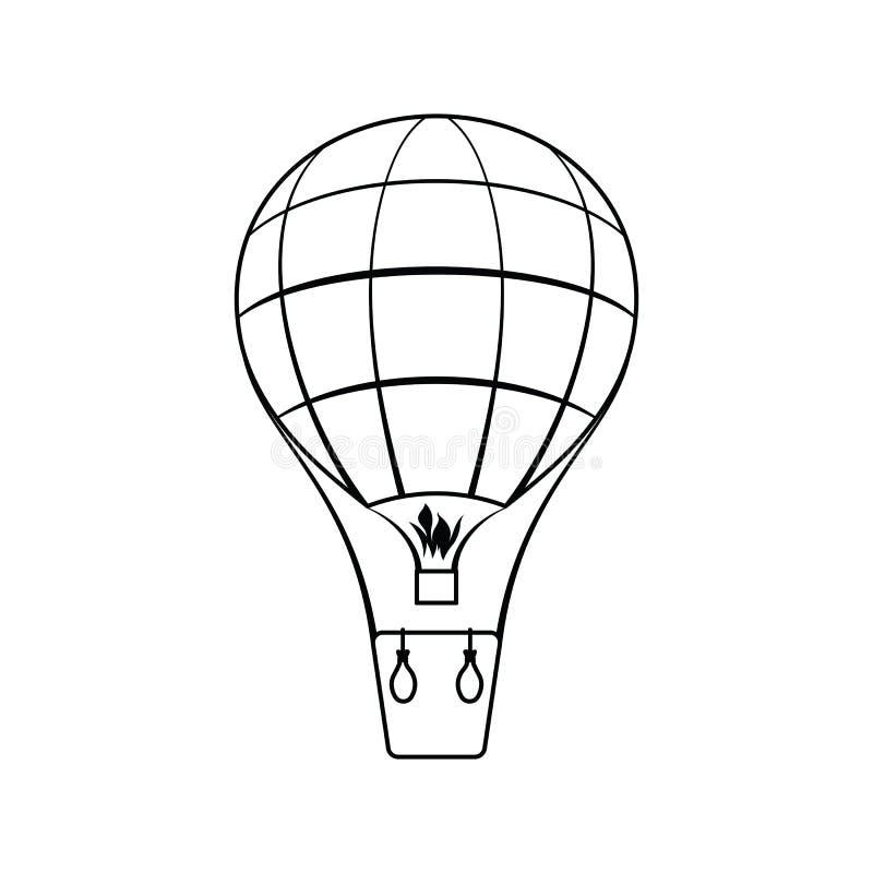 Symbol av ballongen för varm luft royaltyfri illustrationer