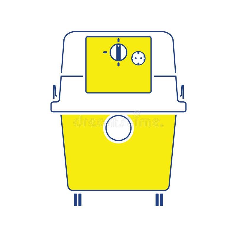 Symbol av dammsugare stock illustrationer