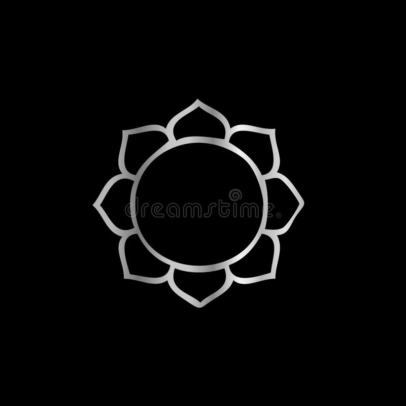 Symbol av den buddismLotus blomman stock illustrationer