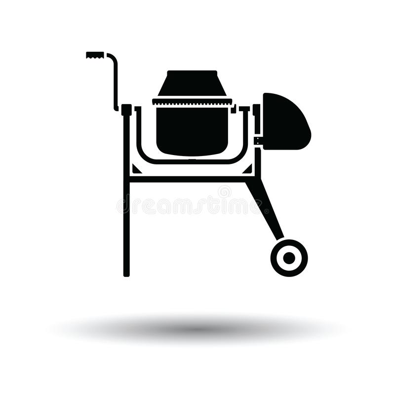 Symbol av den konkreta blandaren vektor illustrationer
